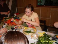 Vázání velikonočních věnců 2011