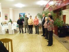 """Oslava jubilantů 4.čtvrt.2011 vjídelně """"učiliště"""""""
